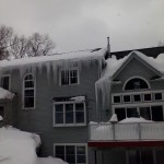 Blizzard Ice Damming
