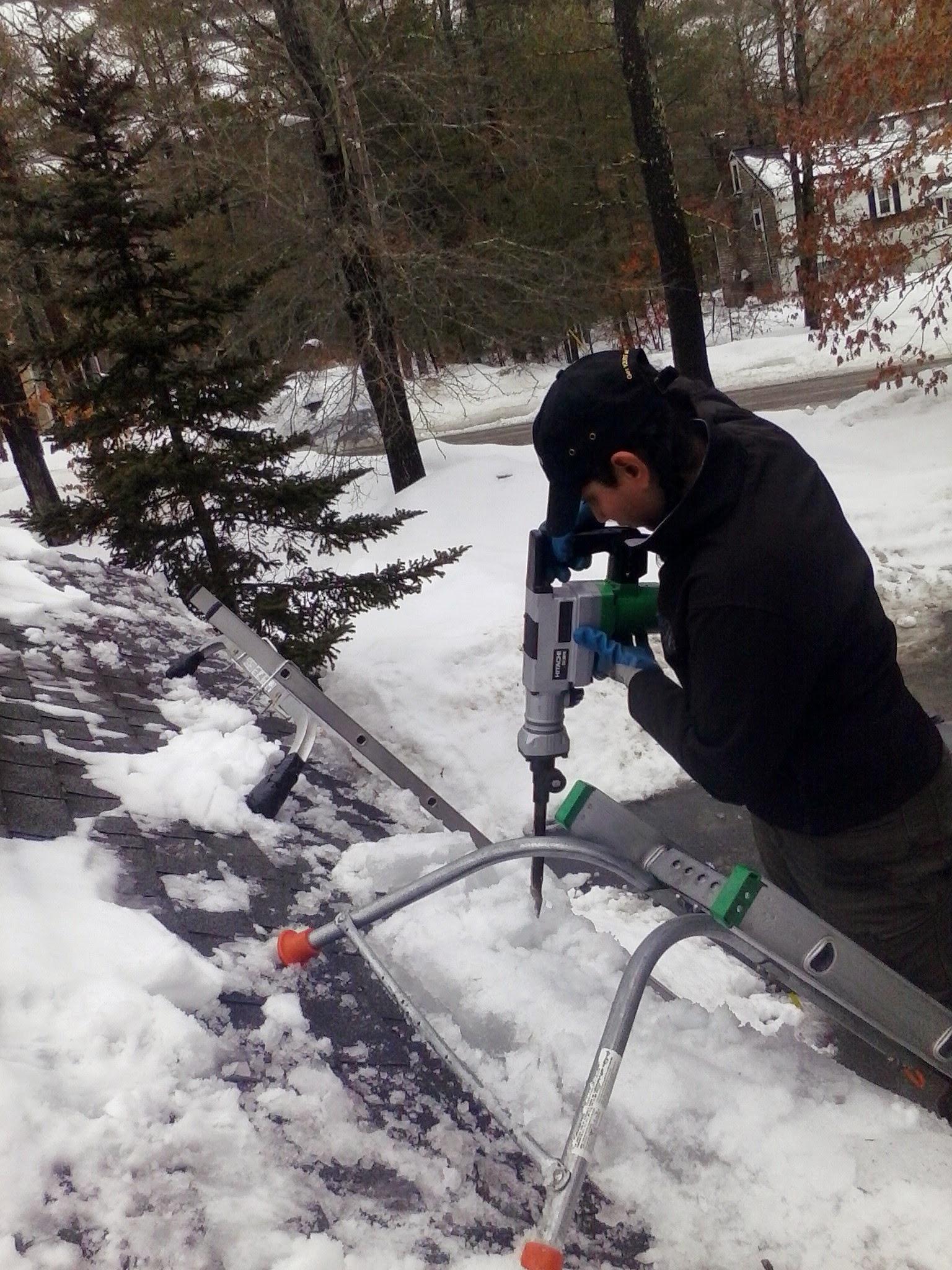 Ice dam removal, Carver