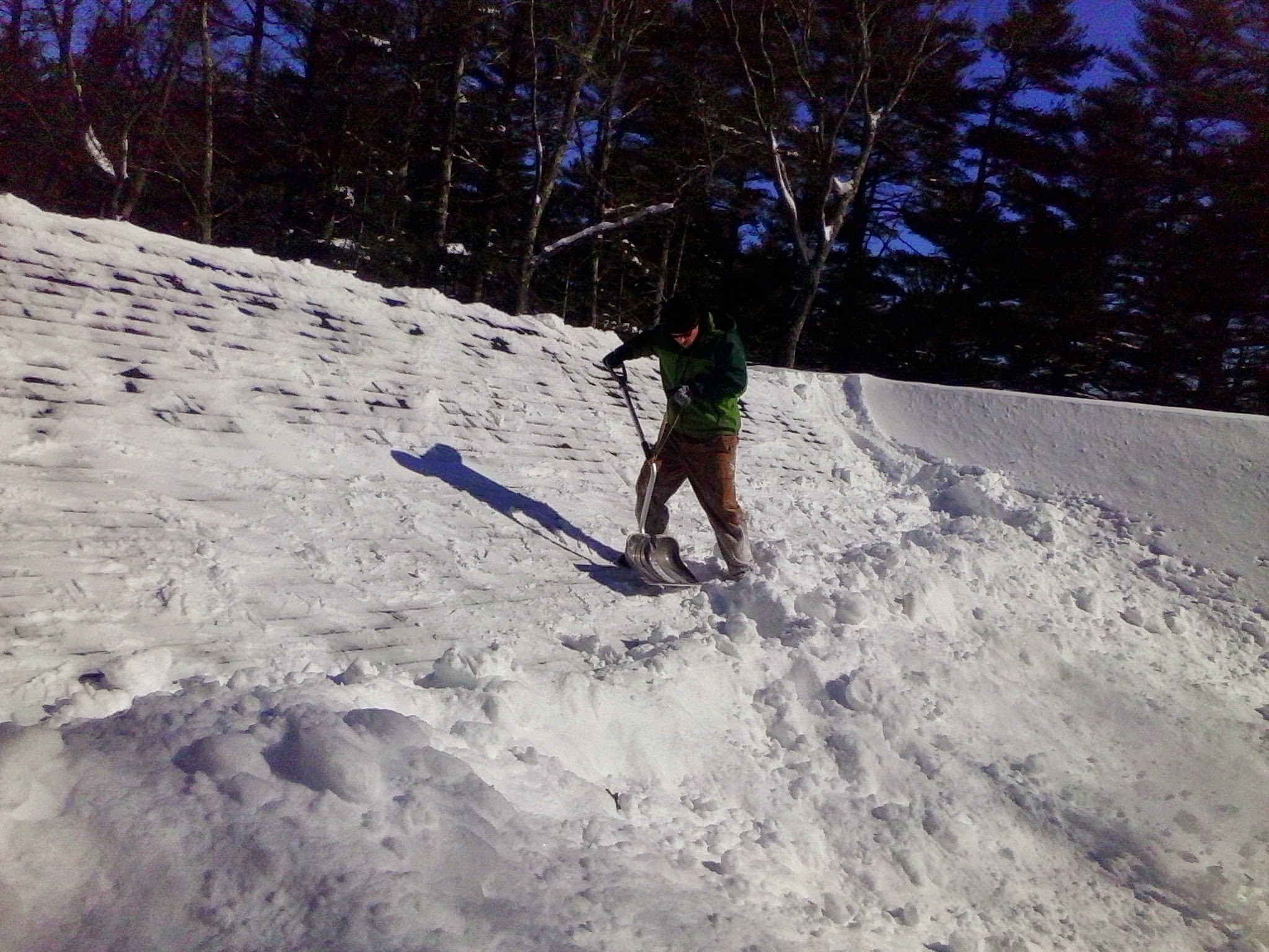 roof snow removal, Carver