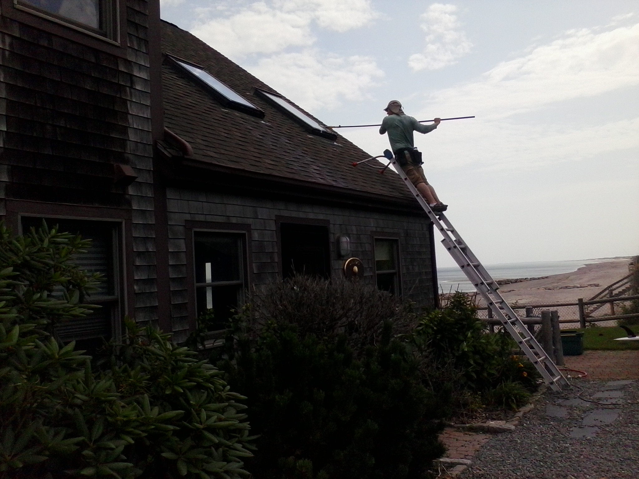 Skylight cleaning, Cape Cod