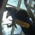 Greenhouse window cleaning