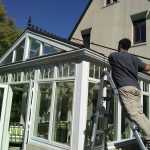 Greenhouse glass cleaning